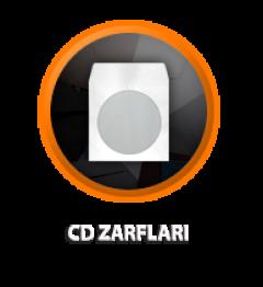 Zarfsan CD Zarfı, Pencereli, 90 gr, 125×125