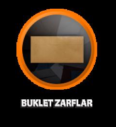 Zarfsan Buklet Zarfı, Silikonlu, Düz, 110 gr, 110×220, 100 Adet