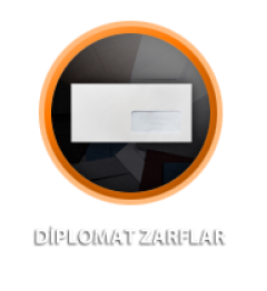 Zarfsan Diplomat Zarfı, Silikonlu, Düz, 90 gr, 105×240, 100 Adet
