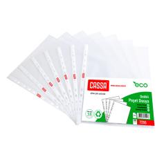 CASSA Delikli Poşet Dosya, ECO, 100'lü Paket – 7255