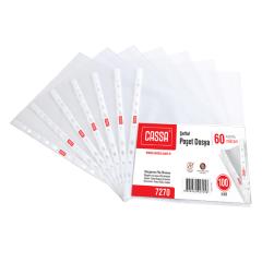 CASSA Şeffaf Poşet Dosya, 60 Mikron, 100'lü Paket – 7270