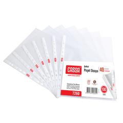 CASSA Şeffaf Poşet Dosya, 40 Mikron, 100'lü Paket – 7260