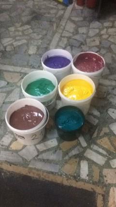 Tekstil Baskı Plastik Boyası Tüm Renkler