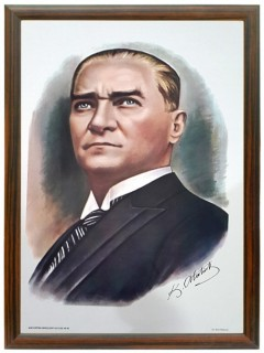 Akyazı Atatürk Posteri , Ahşap Çerçeve – 1