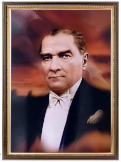 Akyazı Atatürk Posteri , Lüks Çerçeve, 50×70 – 4