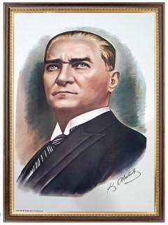 Akyazı Atatürk Posteri , Lüks Çerçeve, 50×70 – 1