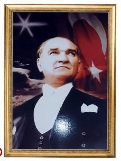 Akyazı Atatürk Posteri , Elit Çerçeve, 50×70 – 2