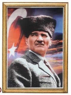 Akyazı Atatürk Posteri , Elit Çerçeve, 50×70 – 3