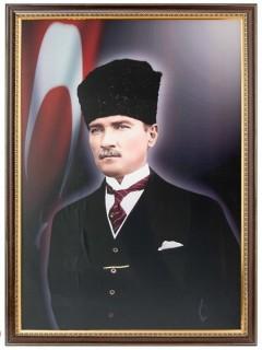 Akyazı Atatürk Posteri , Lüks Çerçeve, 35×50 – 5