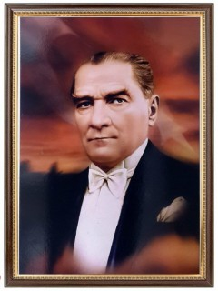 Akyazı Atatürk Posteri , Lüks Çerçeve, 35×50 – 4