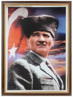 Akyazı Atatürk Posteri , Lüks Çerçeve, 35×50 – 3