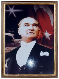Akyazı Atatürk Posteri , Lüks Çerçeve, 35×50 – 2
