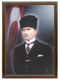 Akyazı Atatürk Posteri , Ahşap Çerçeve – 5