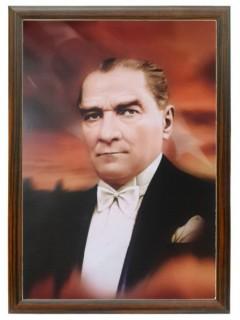 Akyazı Atatürk Posteri , Ahşap Çerçeve – 4