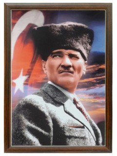 Akyazı Atatürk Posteri , Ahşap Çerçeve – 3