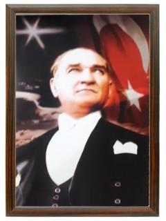 Akyazı Atatürk Posteri , Ahşap Çerçeve – 2