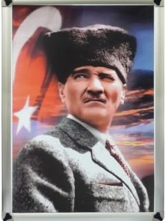 Akyazı Atatürk Posteri , Metal Çerçeve – 3