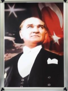 Akyazı Atatürk Posteri , Metal Çerçeve – 2