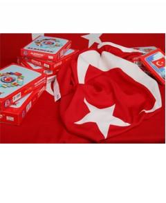 Alsancak Türk Bayrağı, Raşel, Aplike – 12×18 Mt