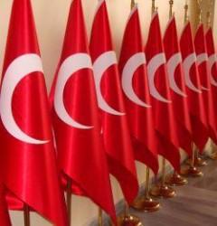Alsancak Makam Türk Bayrağı, Simli, 100×150