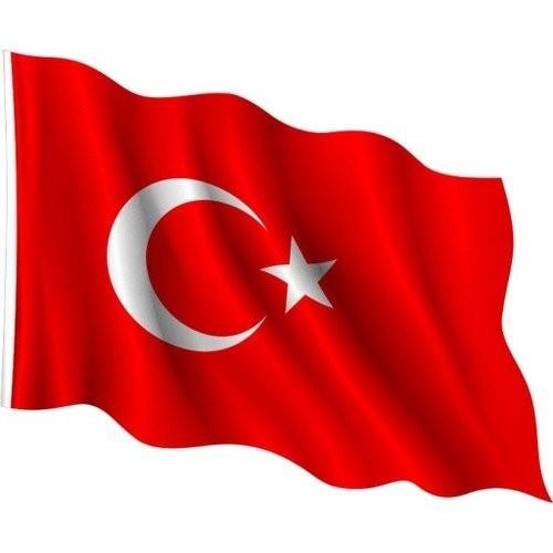 Alsancak Türk Bayrağı, Alpaka Aplike – 12×18 Mt