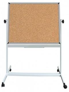 Akyazı Mantar Pano, Mobil Ayaklı, Çift Taraflı, 120×200
