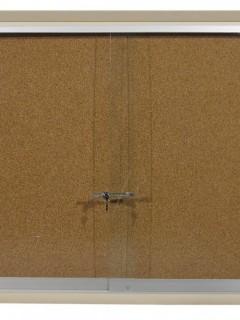 Akyazı Mantar Pano, Ahşap Çerçeve, Camekanlı, 90×150
