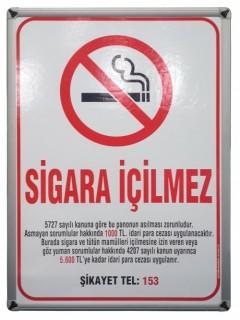 Akyazı Sigara İçilmez Panosu, Alüminyum Çerçeve – 35×50