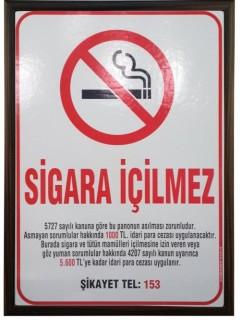 Akyazı Sigara İçilmez Panosu, Ahşap Çerçeve – 50×70