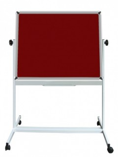 Akyazı Kumaşlı Pano, Mobil Ayaklı, Çift Taraflı, 120×200