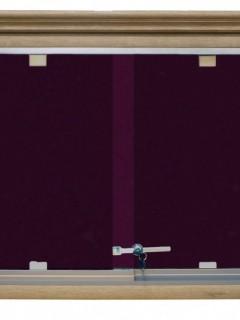 Akyazı Kumaşlı Pano, Ahşap Çerçeve, Camekanlı, 90×120