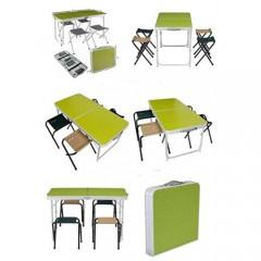 Piknik Masası 4/6 Kişilik Katlanır Taşınabilir Masa-4