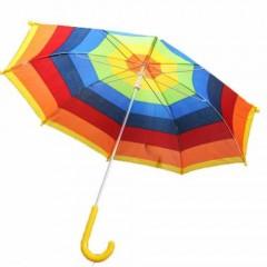 Çocuk Gökkuşağı Şemsiye, Çocuk Boy 23 Nisan Gösteri Şemsiyesi Toptan Perake-0
