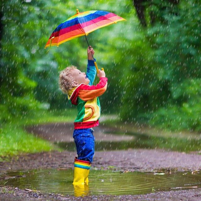 Çocuk Gökkuşağı Şemsiye, Çocuk Boy 23 Nisan Gösteri Şemsiyesi Toptan Perake
