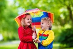 Çocuk Gökkuşağı Şemsiye, Çocuk Boy 23 Nisan Gösteri Şemsiyesi Toptan Perake-2