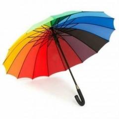 16 telli Gökkuşağı Şemsiye Büyük Boy Renkli Gökkuşağı Şemsiye Toptan