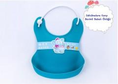 Su Geçirmez Silikon Bebek Önlüğü Toptan Perakende (Pembe-Mavi)