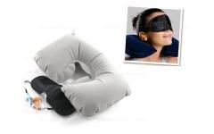 Toptan Seyahat Yastığı Göz Bandı Kulak Tıkacı 3lü Set Toptan Perakende
