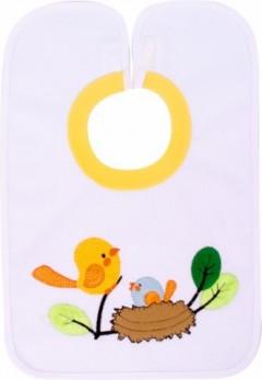 Sevi Bebe Yapışkanlı Havlu Önlük  Kuş