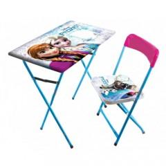 Prenses Çocuk Ders Çalışma Masası Ve Sandalyesi-0