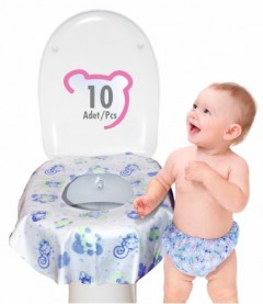 Sevi Bebe Kullan At Klozet Örtüsü (Asorti)
