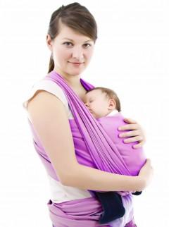 Sevi Bebe Bebek Taşıma Şalı Bordo