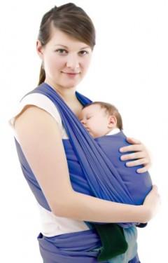 Sevi Bebe Bebek Taşıma Şalı Lacivert