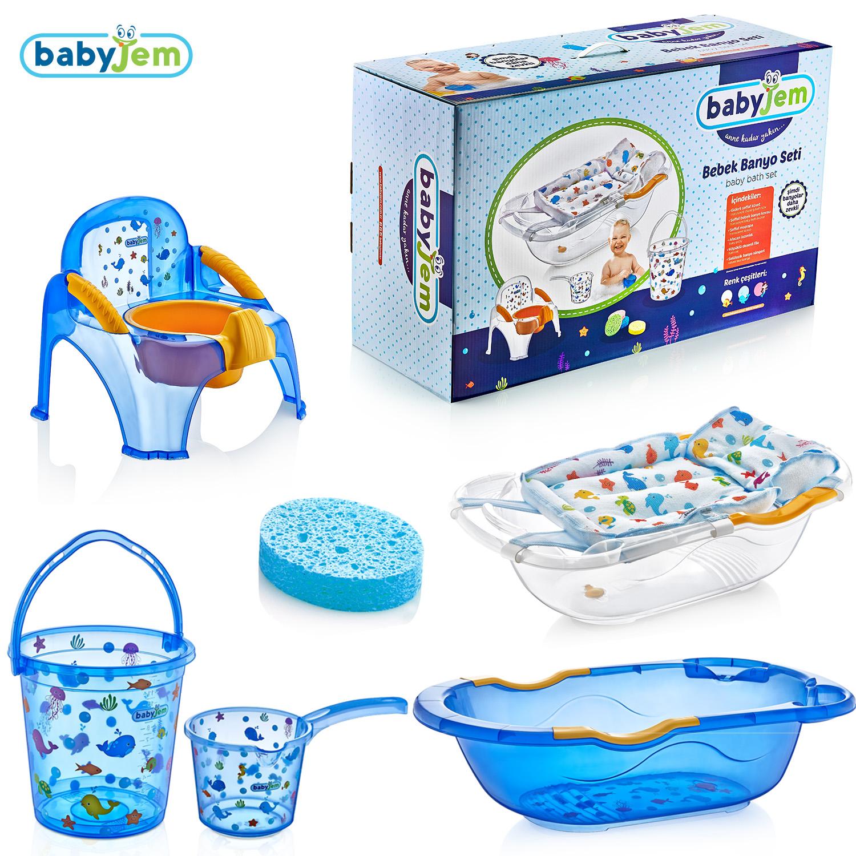 Babyjem Bebe Lüx Banyo Seti 6 Parça Mavi