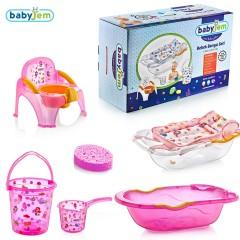 Babyjem Bebe Lüx Banyo Seti 6 Parça Pembe