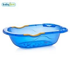 Babyjem Desenli Giderli Şeffaf Banyo Küveti Mavi