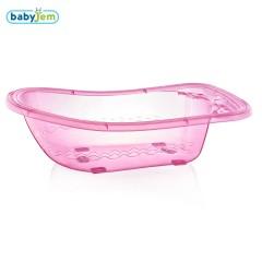 Babyjem Bebek Giderli Büyük Banyo Küveti Pembe