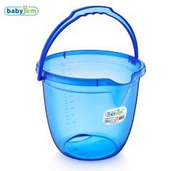 Babyjem Bebek Banyo Kovası Şeffaf Mavi
