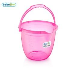 Babyjem Bebek Banyo Kovası Şeffaf Pembe