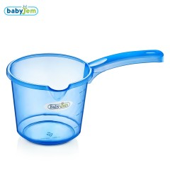 Babyjem Bebek Banyo Maşrapası Şeffaf Mavi